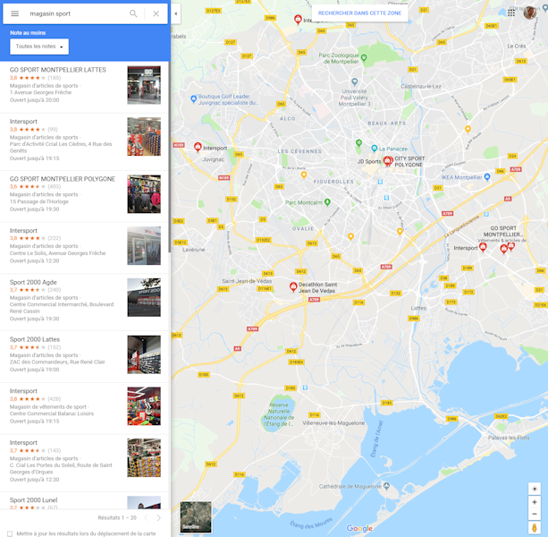 Follow the positions of your listing on Google Maps